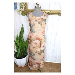 Vintag Virgo II 90s Floral Maxi Dress